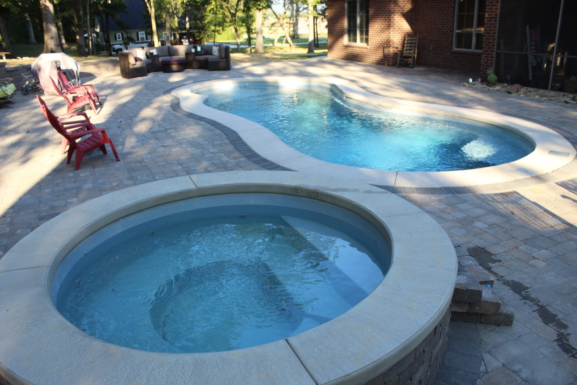 Leisure Pools Eclipse 35 Silver Grey w Round Sorrent Spa 2019 0816 6